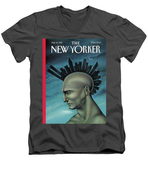 Mohawk Manhattan Men's V-Neck T-Shirt