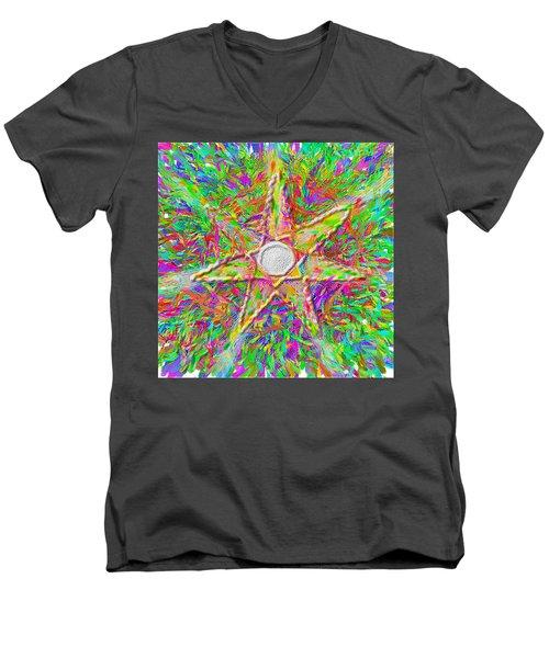 Mandala 1 22 2015 Men's V-Neck T-Shirt