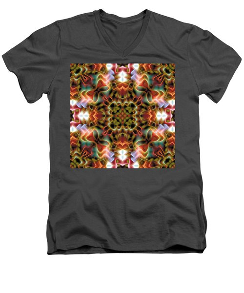 Mandala 120 Men's V-Neck T-Shirt by Terry Reynoldson