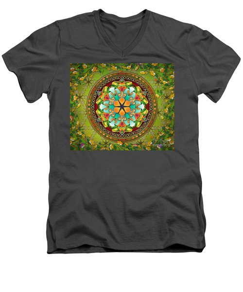 Mandala Evergreen Sp Men's V-Neck T-Shirt