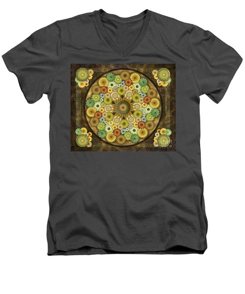 Mandala Stone Flowers Sp Men's V-Neck T-Shirt