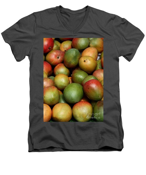 Mangoes Men's V-Neck T-Shirt by Carol Groenen