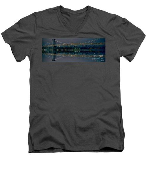 Manhattan Bridge New York Men's V-Neck T-Shirt