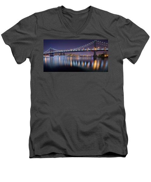 Manhattan Reflections  Men's V-Neck T-Shirt