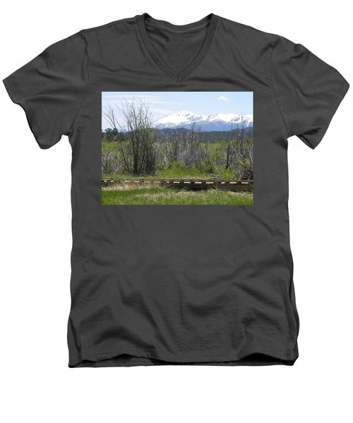 Lake Manitou Sp Woodland Park Co Men's V-Neck T-Shirt