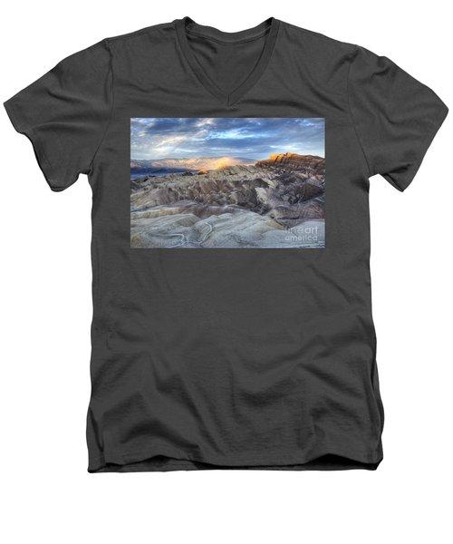 Manly Beacon Men's V-Neck T-Shirt by Juli Scalzi