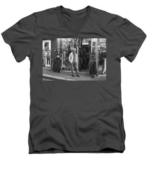 Mannequin Men's V-Neck T-Shirt by Hugh Smith