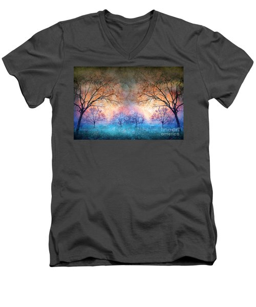 Many Moons Men's V-Neck T-Shirt
