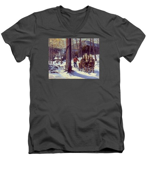 Maple Sugar Time Men's V-Neck T-Shirt