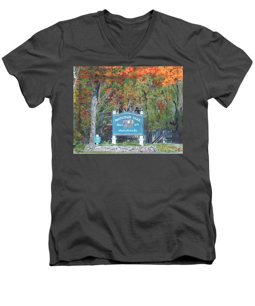 Marathon Park Men's V-Neck T-Shirt
