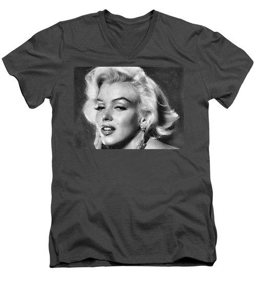 Beautiful Marilyn Monroe Unique Actress Men's V-Neck T-Shirt by Georgi Dimitrov