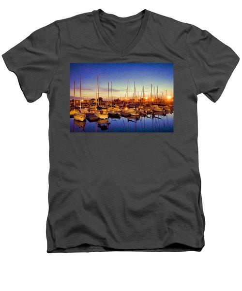 Marina Sunrise Men's V-Neck T-Shirt