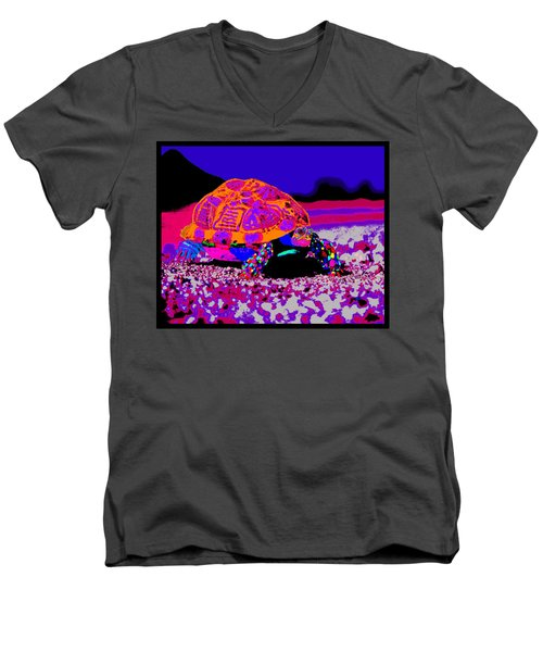 Marine Corporals Turtle In Peace Paint V3 Men's V-Neck T-Shirt