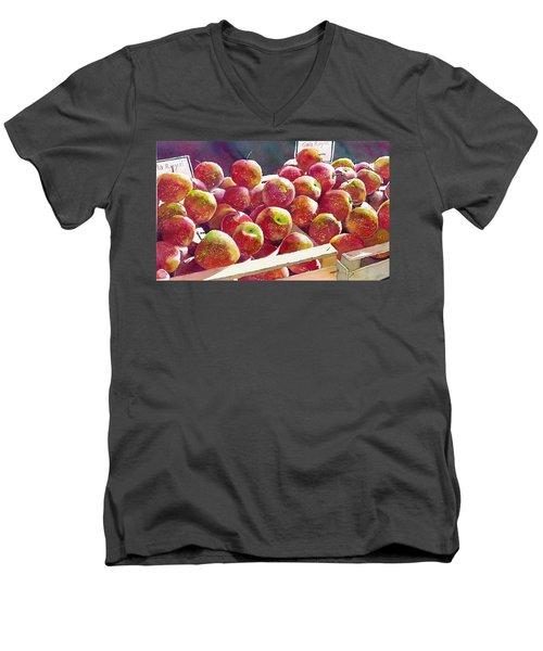 Market Apples Men's V-Neck T-Shirt