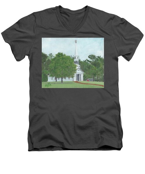 Martha Mary Chapel Men's V-Neck T-Shirt