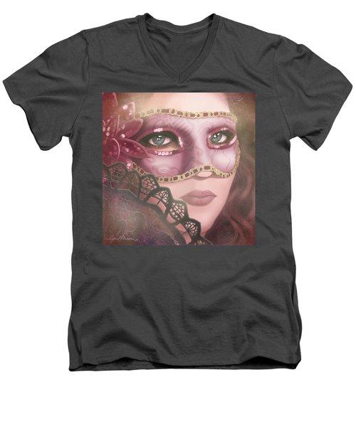 Masked Iv Men's V-Neck T-Shirt