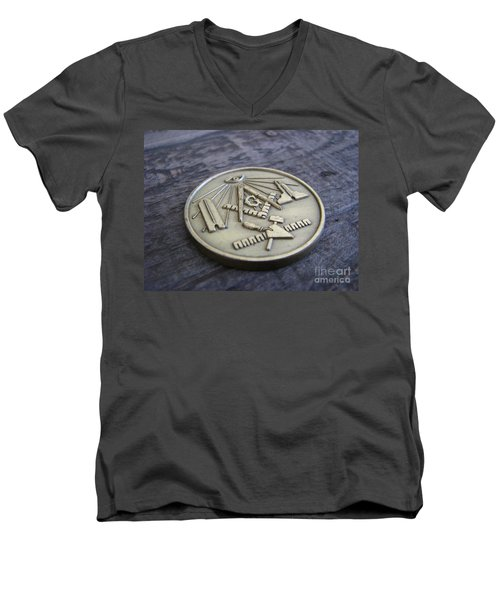 Masonic Medal Men's V-Neck T-Shirt