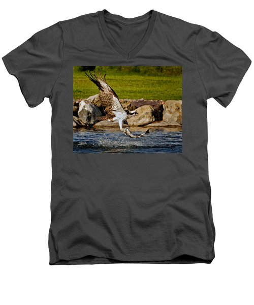 Master Fisherman Men's V-Neck T-Shirt by Jack Bell