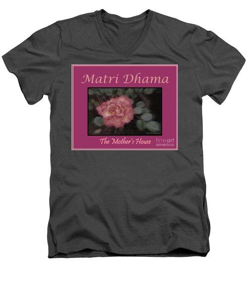 Matri Dhama Design 5 Men's V-Neck T-Shirt