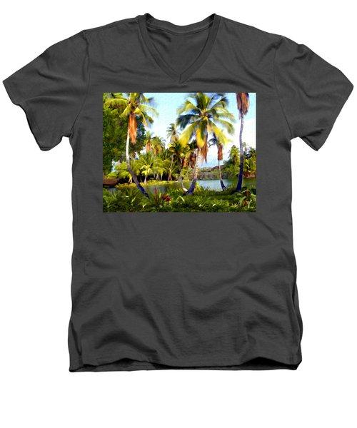 Mauna Lani Fish Ponds Men's V-Neck T-Shirt