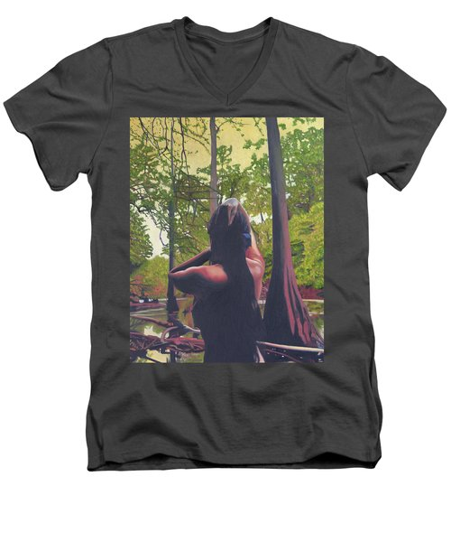 May Morning Arkansas River 5 Men's V-Neck T-Shirt by Thu Nguyen