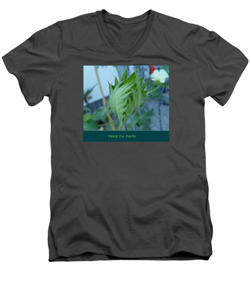 May Peace On Earth Men's V-Neck T-Shirt by Lingfai Leung