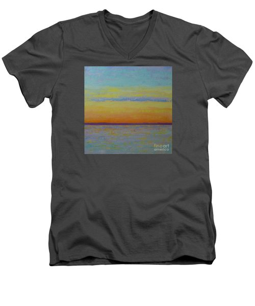 May Sunset Men's V-Neck T-Shirt by Gail Kent