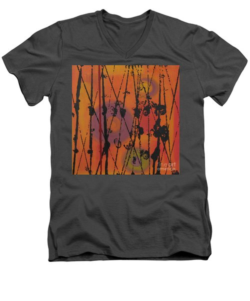 Men's V-Neck T-Shirt featuring the painting Maya 1 by Mini Arora