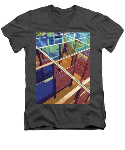 Labirinto Men's V-Neck T-Shirt by Julio Lopez
