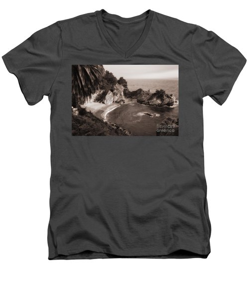 Men's V-Neck T-Shirt featuring the photograph Mcway Falls by Vincent Bonafede