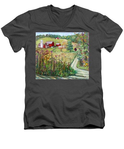 Meadow Farm Men's V-Neck T-Shirt