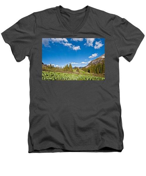 Meadow Of False Hellebore Men's V-Neck T-Shirt by Jeff Goulden