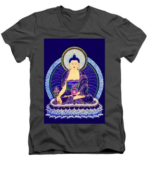 Medicine Buddha 6 Men's V-Neck T-Shirt by Lanjee Chee