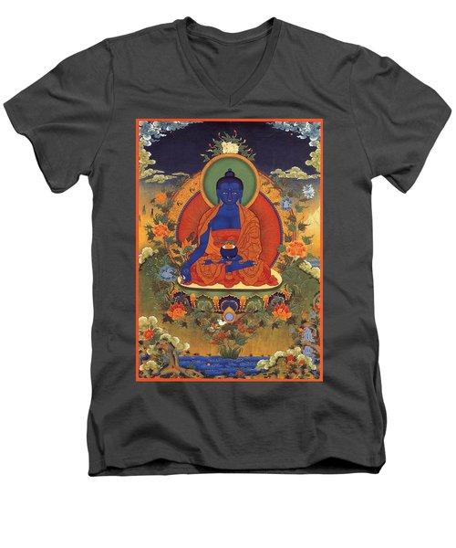 Medicine Buddha 8 Men's V-Neck T-Shirt by Lanjee Chee