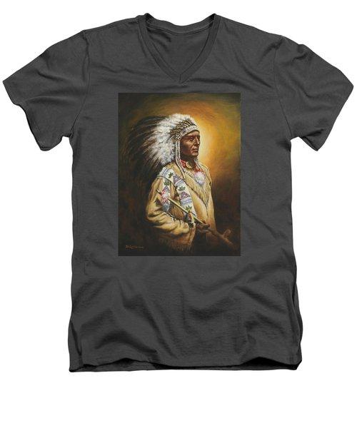 Medicine Chief Men's V-Neck T-Shirt by Kim Lockman