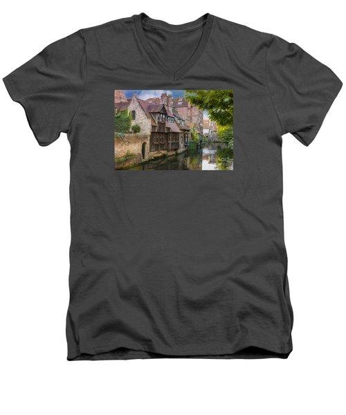 Medieval Bruges Men's V-Neck T-Shirt by Juli Scalzi