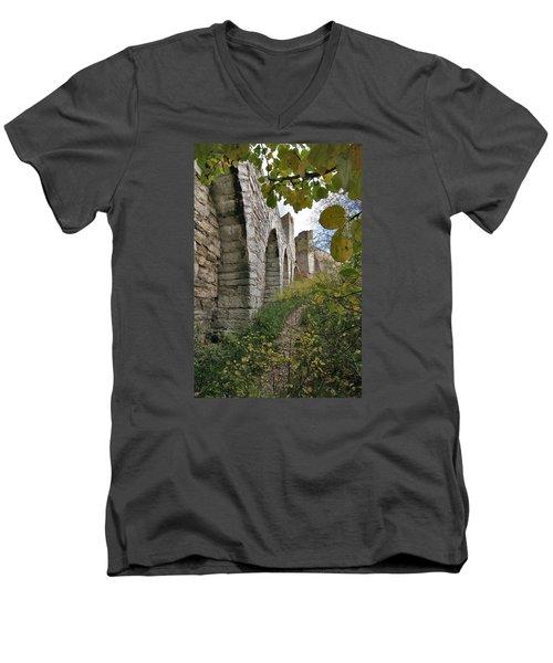 Medieval Town Wall Men's V-Neck T-Shirt