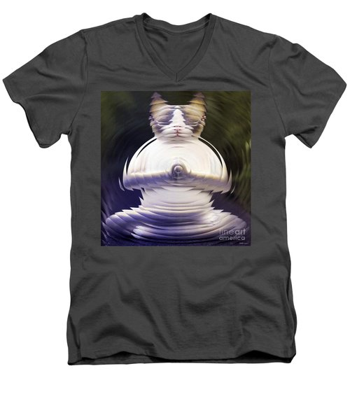 Meditation Kitty Men's V-Neck T-Shirt