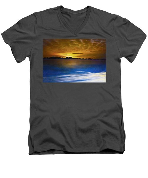 Mediterranean Sunrise Men's V-Neck T-Shirt
