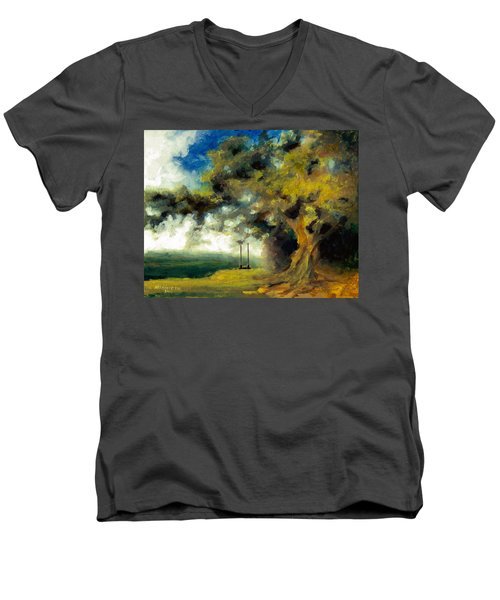 Meet Me At Our Swing Men's V-Neck T-Shirt