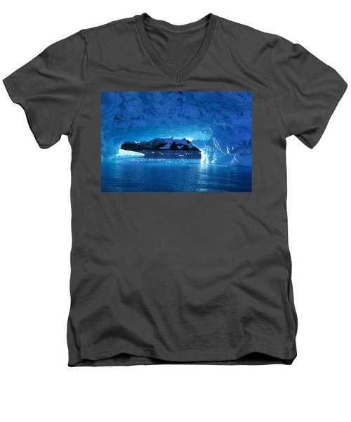 Melting Ice Cave Antarctica Men's V-Neck T-Shirt