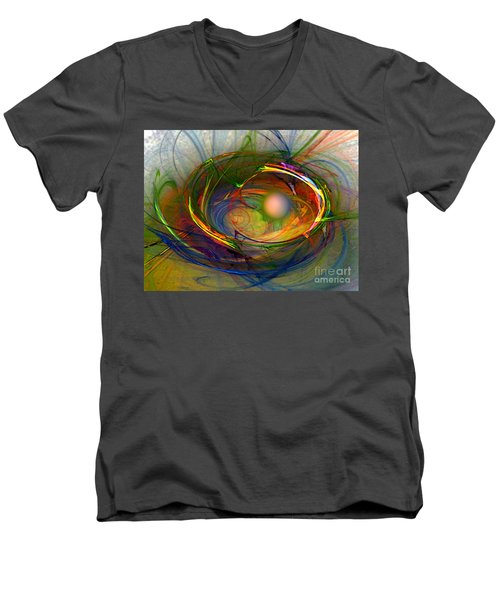 Melting Pot-abstract Art Men's V-Neck T-Shirt