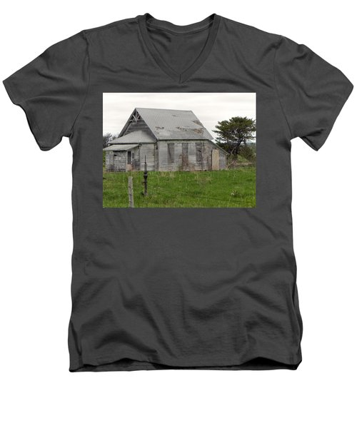 Men's V-Neck T-Shirt featuring the photograph Memories by Deb Halloran