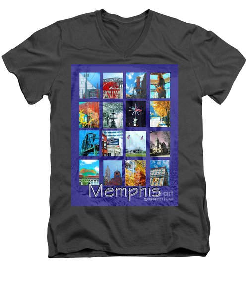 Memphis Men's V-Neck T-Shirt by Lizi Beard-Ward