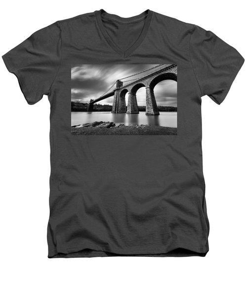 Menai Suspension Bridge Men's V-Neck T-Shirt
