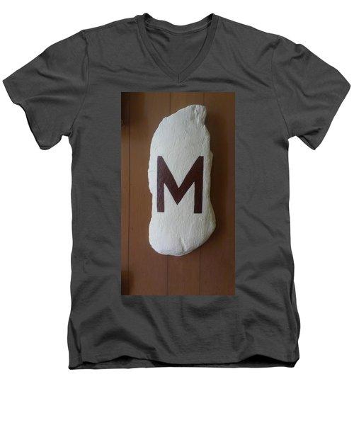 Menominee Maroons Men's V-Neck T-Shirt by Jonathon Hansen