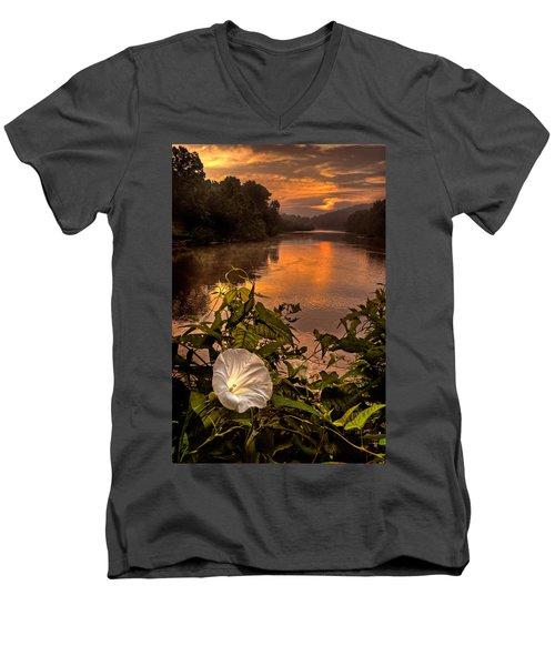 Meramec River At Chouteau Claim Men's V-Neck T-Shirt