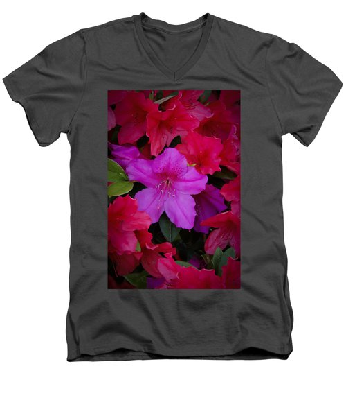 Merging Azaleas 2 Men's V-Neck T-Shirt