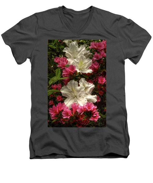 Merging Azaleas  Men's V-Neck T-Shirt
