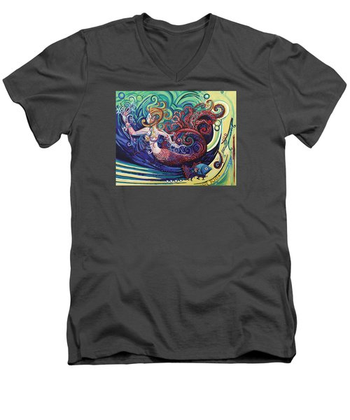 Mermaid Gargoyle Men's V-Neck T-Shirt